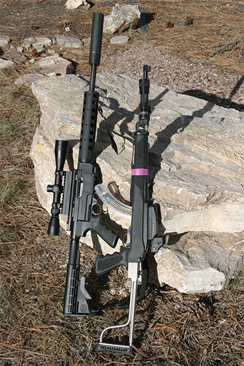 Two 10 22 rifles with Bushnell optics attached