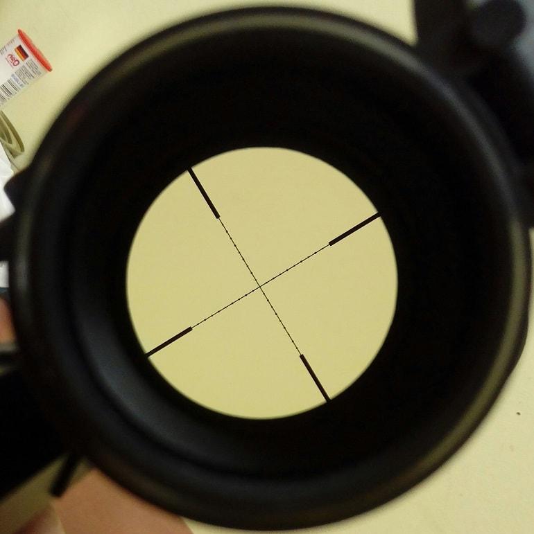 airgun scope reticle