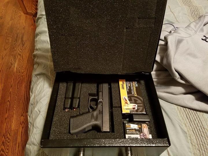 Car gun safe