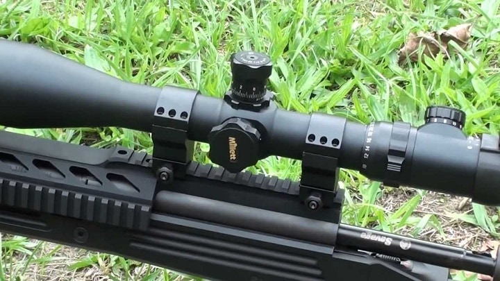 scope rings with picatinny rail on top