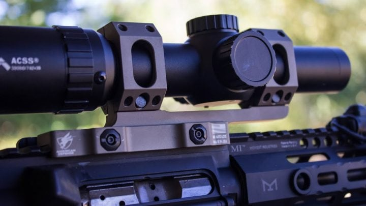 best one piece scope mount