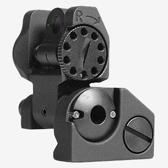 Troy Industries Folding Tritium Battle rear sight.