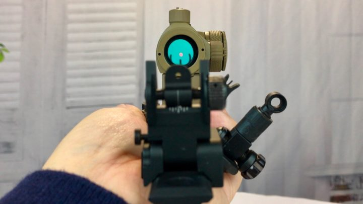 best ar flip up sights