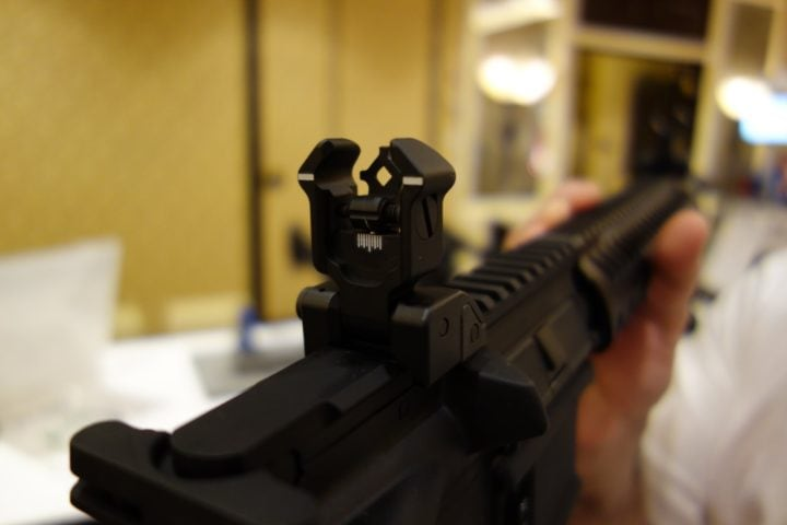 best flip up sights for ar 15