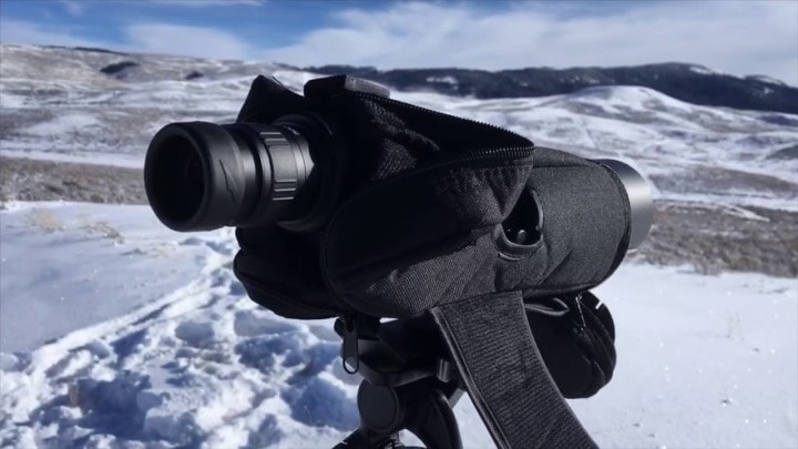20-60x60 spotting scope distance
