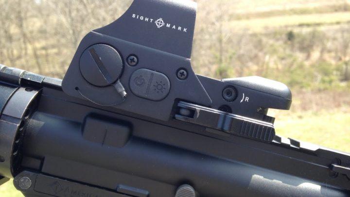 red dot on shotgun