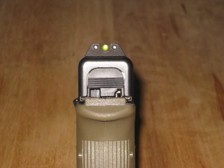 trijicon night sights glock 26