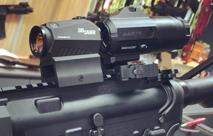 red dot scope with magnifier