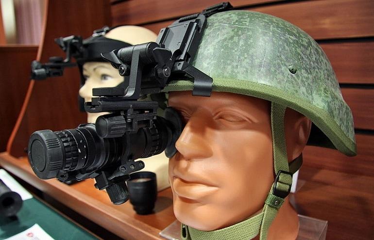 night vision on helmet